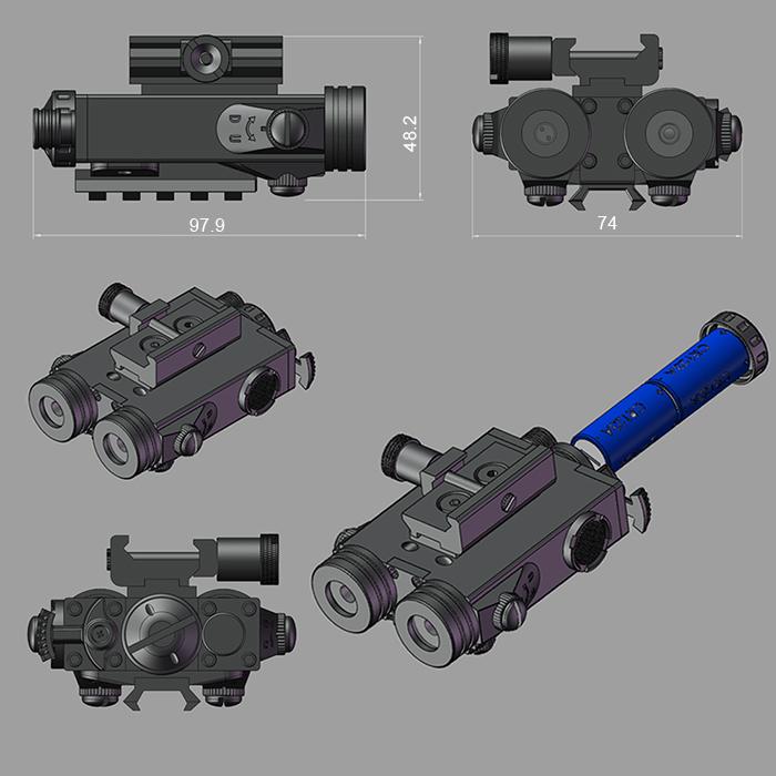 Tactical Ar15 Rifle Red Laser Sight Plus Ir Illuminator