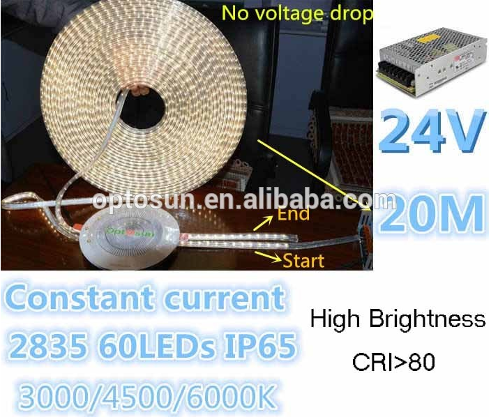 No voltage drop 30m led strips 24v constant current c decoration led flexible strip lighting