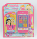 Princess Pink culd kids smart phone toy and promotional toys set for gril