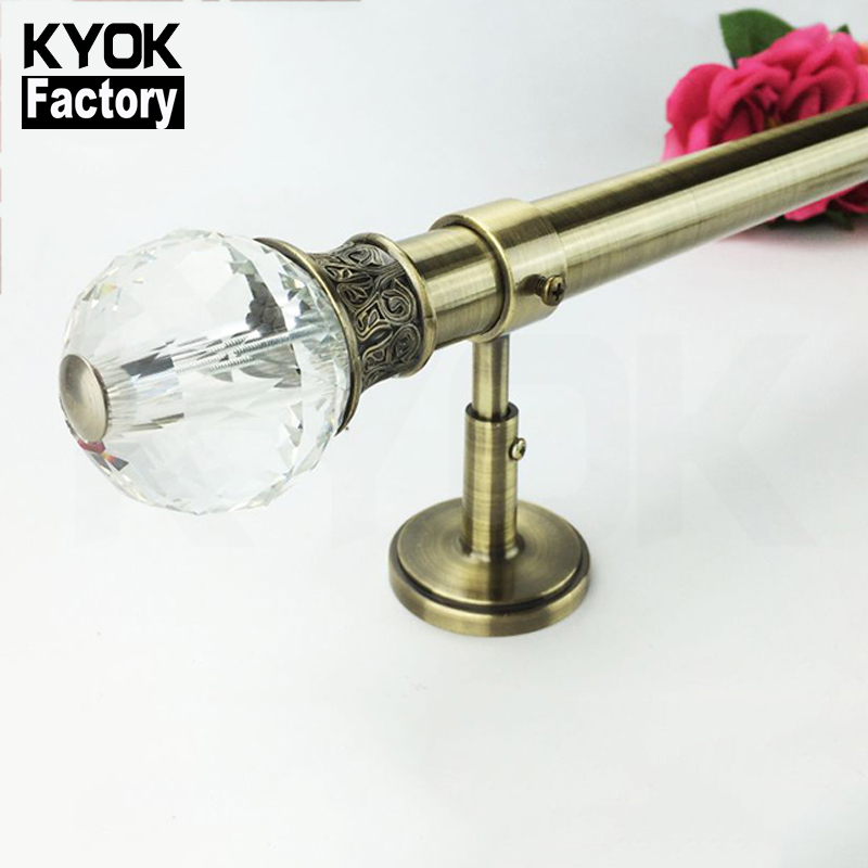 KYOK Windows Decorative Tension Rod Curtain Modern Curtain Rods Set China Factory Pvc Curtain Rods Accessory H520