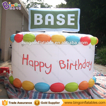 Sensational Party Decoration Giant Inflatable Happy Birthday Cakes Images Personalised Birthday Cards Bromeletsinfo