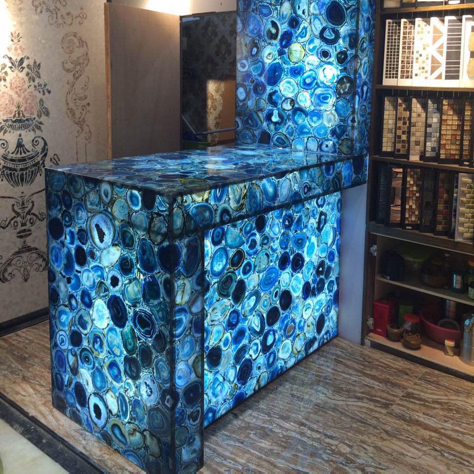 Semi-precious Stone Blue Agate Countertop - Buy Agate Countertop ...