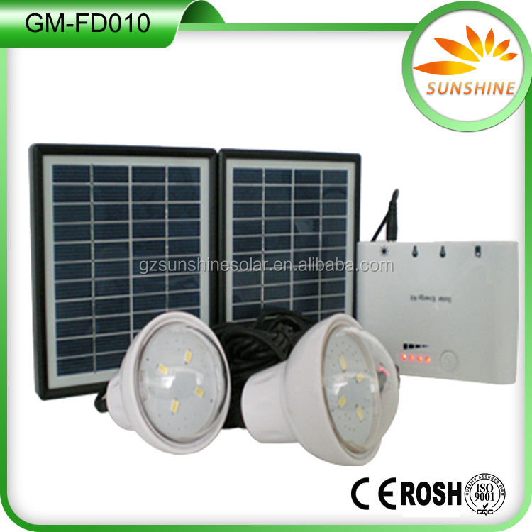 Energy saving solar power 1.7W portable mini solar system with mobile charger and usb output