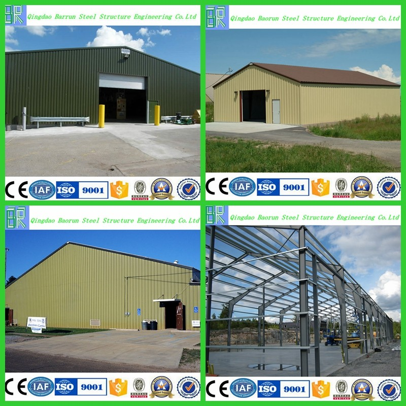 Prefab low cost factory workshop steel frame building