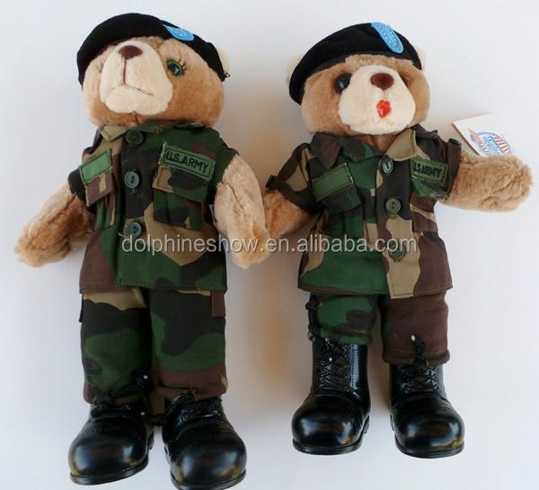 Promotionnel Gros Pas Cher En Peluche Jouet Armee Militaire Colore