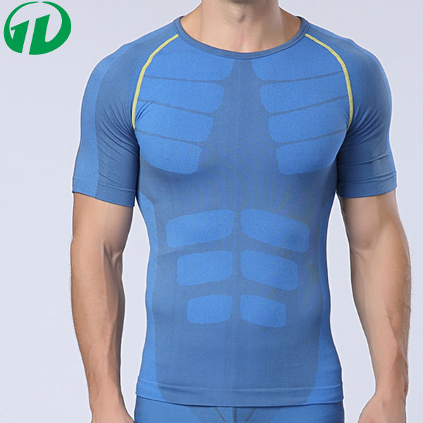 Top Quality body shaping dry fit Basketball Men's tight short sleeve