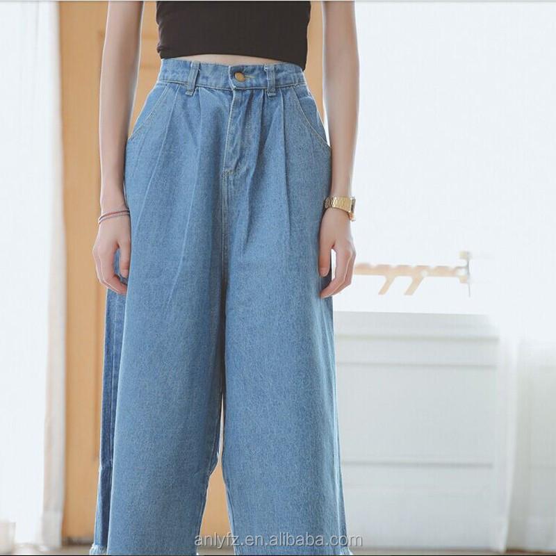 Freies Verschiffen Breiten Weiblichen Beinhosen Lose Jeans Neun