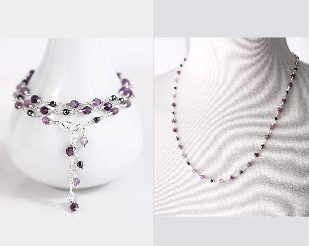 Amethyst Bracelet February Birthstone Purple Bracelet Amethyst Jewelry Gemstone Bracelet Amethyst Jewelry Amethyst Stone Necklace Violet 119.
