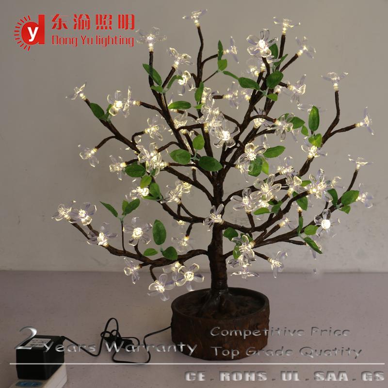 Desh Led Mini Cherry Blossom Bosai Tree Lighting High Simulation On Light Bonsai