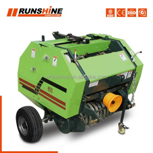 Manufacturer factory farm mini round hay/straw baling machine with CE