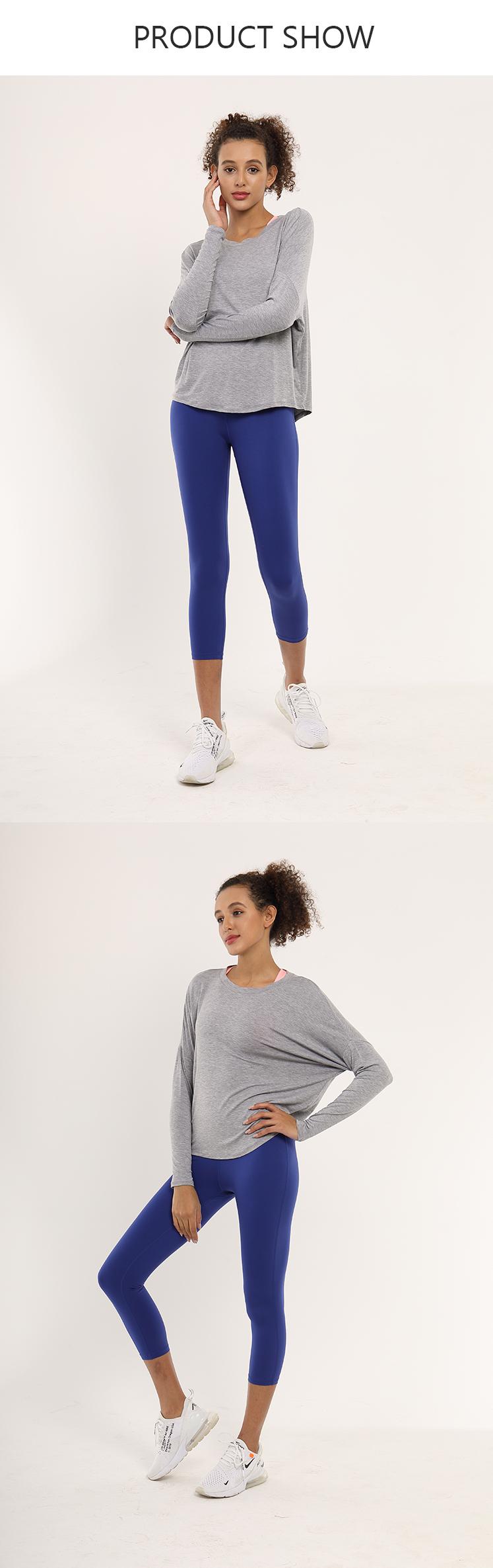 BWST006 Sportswear Arten Bat Design Langarm Shirts Indische Yoga Kleidung Frauen