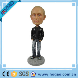 OEM dashboard president putin bobble head bodies for home office desk decor