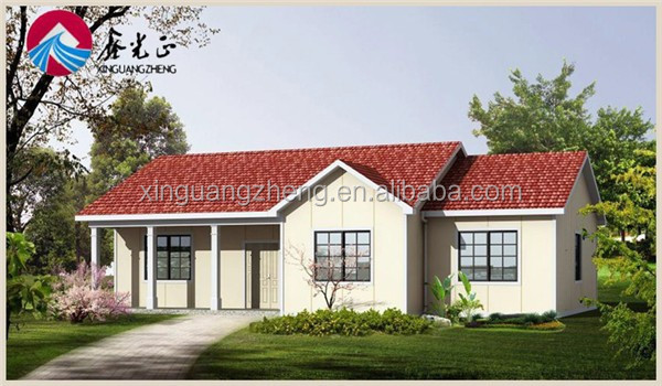temporary pre engineered light steel structure prefab house