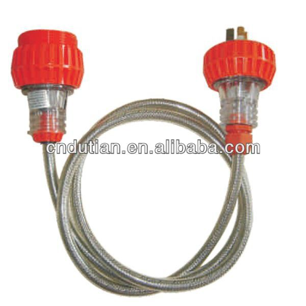 IP66 high quality and on top sale extension lead with socket and plug