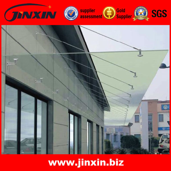 Modern design stainless steel glass canopy fittings/glass canopy pole and bracket & Modern design stainless steel glass canopy fittings/glass canopy ...