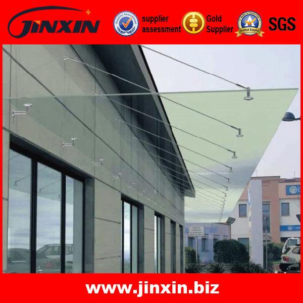 Modern design stainless steel glass canopy fittings/glass canopy pole and bracket & Modern design stainless steel glass canopy fittings/glass canopy ...