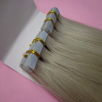hot sale ash blonde double drawn tape hair extension remy human for australia