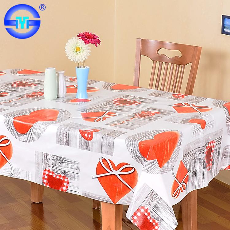 Custom Paint Kid Reusable Pvc Non Slip Tablecloth Plastic Tablecloths For  Exhibitions