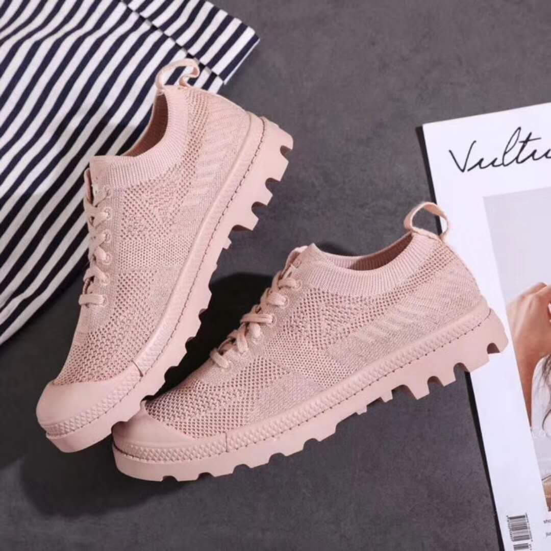 slip weave out toe mesh stylish anti shell shoes lace ladies hollow fly up casual wOqq5TS