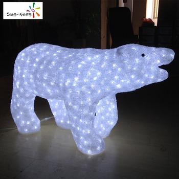 best selling bulk led polar bear christmas motif lights for home decor