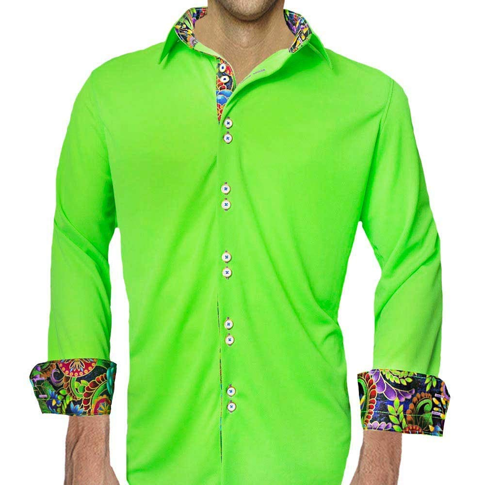 1fe4e301d1587 Get Quotations · Neon Green Moisture Wicking Dress Shirts - Made in the USA