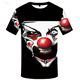 Wholesale high quality red nose clown T Shirt sublimation black 3D t shirts for men