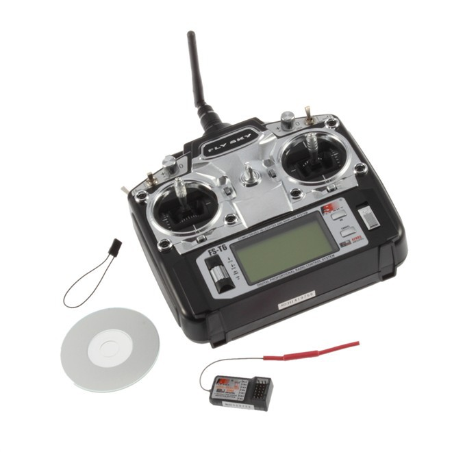 FlySky FS-T6 T6- Digital-Proportional-6-Channel-Transmitter-and-Receiver-System
