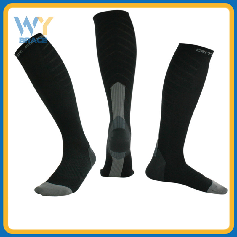 China Factory Below Knee High Compression Socks 20-30 mmhg for Men & Women