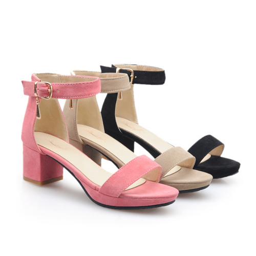 2f05648179 Get Quotations · Discount Women's Ankle Strap Mid Heel Sandals Platform  Thick Heels Large Size 34-43 Ladies