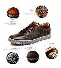 fashion skateboard shoes popular heavy-bottomed leather shoes for men