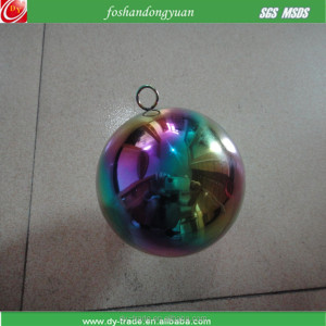 Christmas Holiday Decorative Hanging Stainless Steel Color Ball Sphere