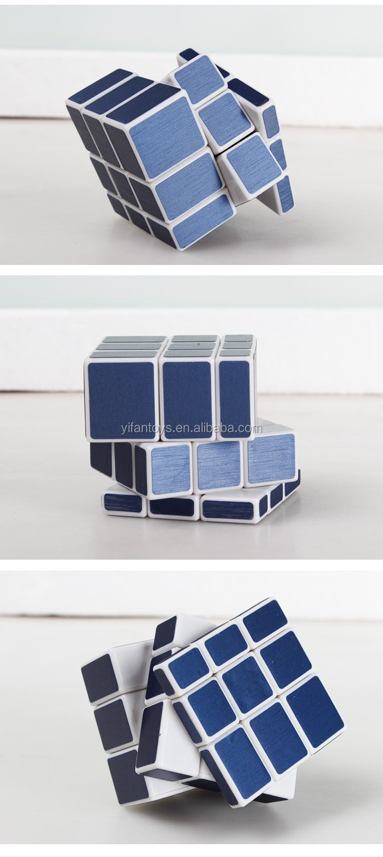 Y9831j 5.7cm Yongjun Blue Color Mirror Magic Cubes 3x3 Diy Toys ...