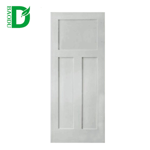 White primed painted moulded panel door design interior hdf wood door