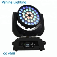 New design led disco light nightclub 36x10w led moving head wash 360w zoom