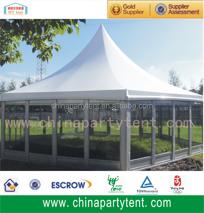 Pagoda Tent 5*5m Glass Wall Aluminum Frame High-quality for Tents