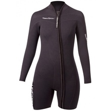 Lange Mouw <span class=keywords><strong>Rits</strong></span> 3mm Shorty Blind Gestikt Lente Wetsuit