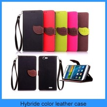 For Huawei G7 leather case mobile phone case leaf clip wallet flip leather case for Huawei Asend G7((PT-HWG7L221)