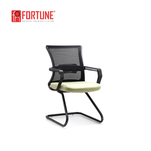 Office mesh back and armrest adjustable cantilever ergonomic chairs no wheels for sale(FOH-XM2D-B)