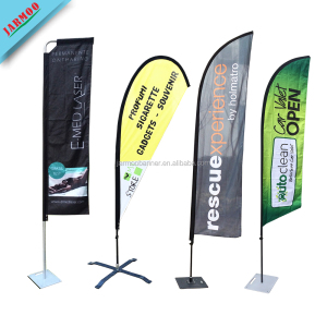 Custom Advertising Outdoor Teardrop Beach Feather Flag