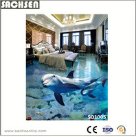 Dolphin Design 3D Polished Finish Interior Floor Decorative Tiles