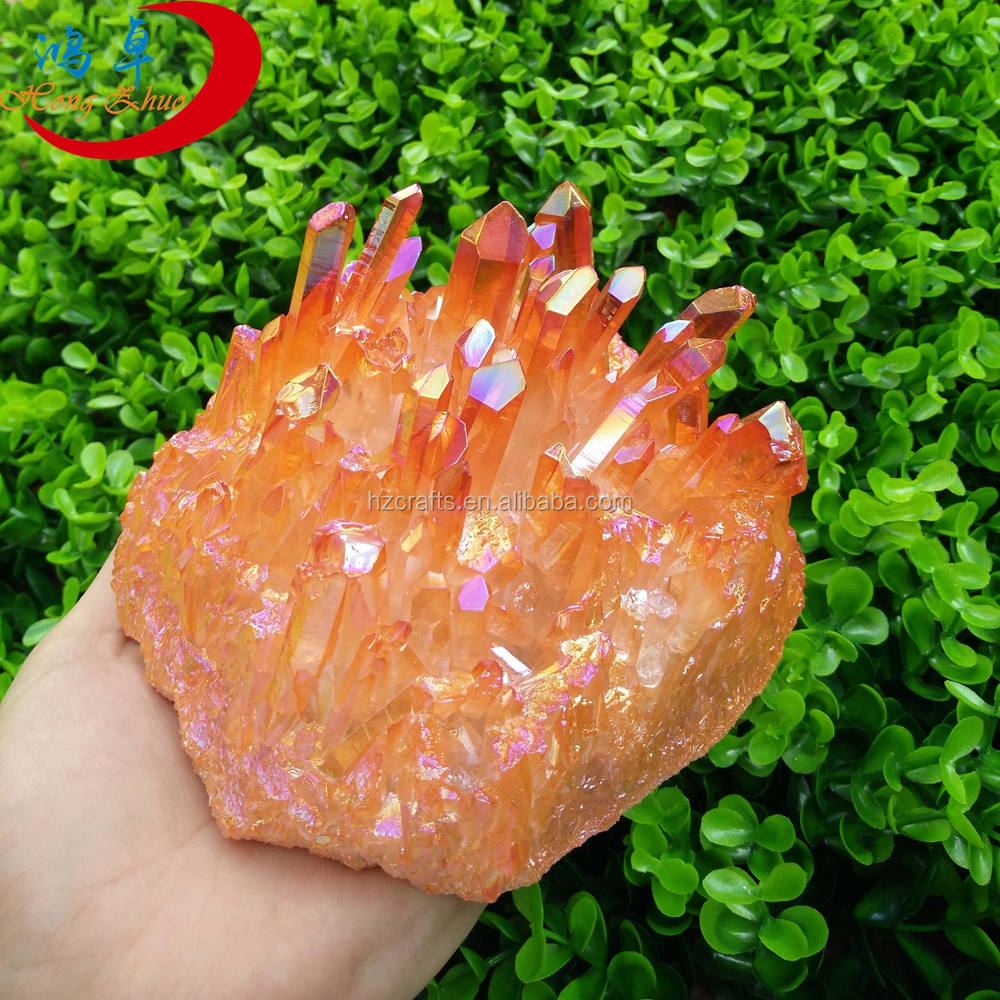 2016 new hot pink crystal quartz stone for home decorate natural healing crystal clusters