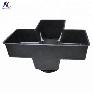 Black PS material plastic l packaging insert tray blister flocking packaging trays