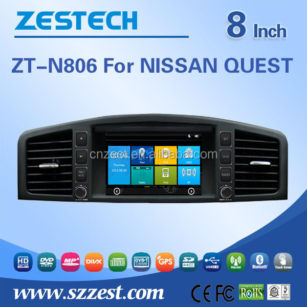 made in china car dvd player For Nissan QUEST touch screen 2 din auto car audio radio player WITH DVR OBD DTV