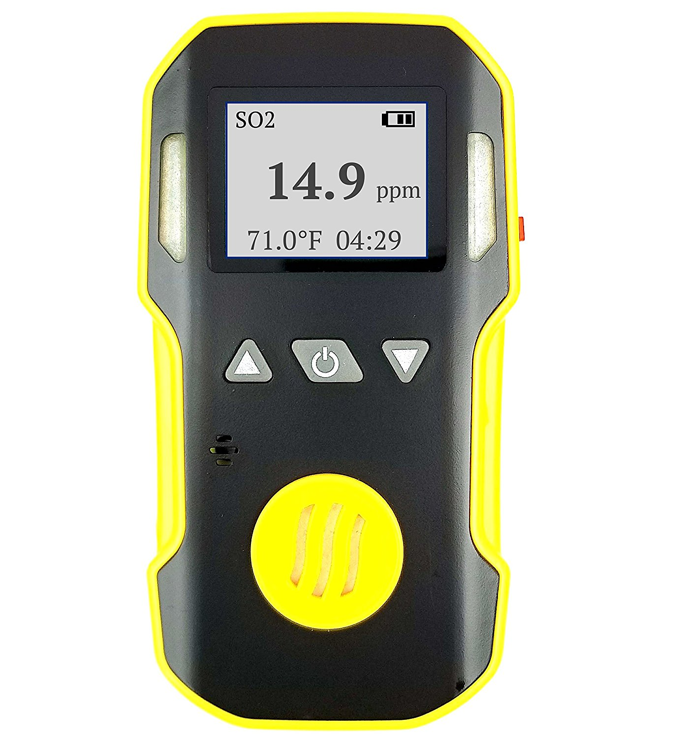 Sulfur Dioxide SO2 Detector by FORENSICS & BOSEAN   ABS & Anti-slip Grip Rubber   Water, Dust & Explosion Proof   Li-ion Battery 1500mAh   Adjustable Sound, Light & Vibration Alarms   0-20ppm SO2  