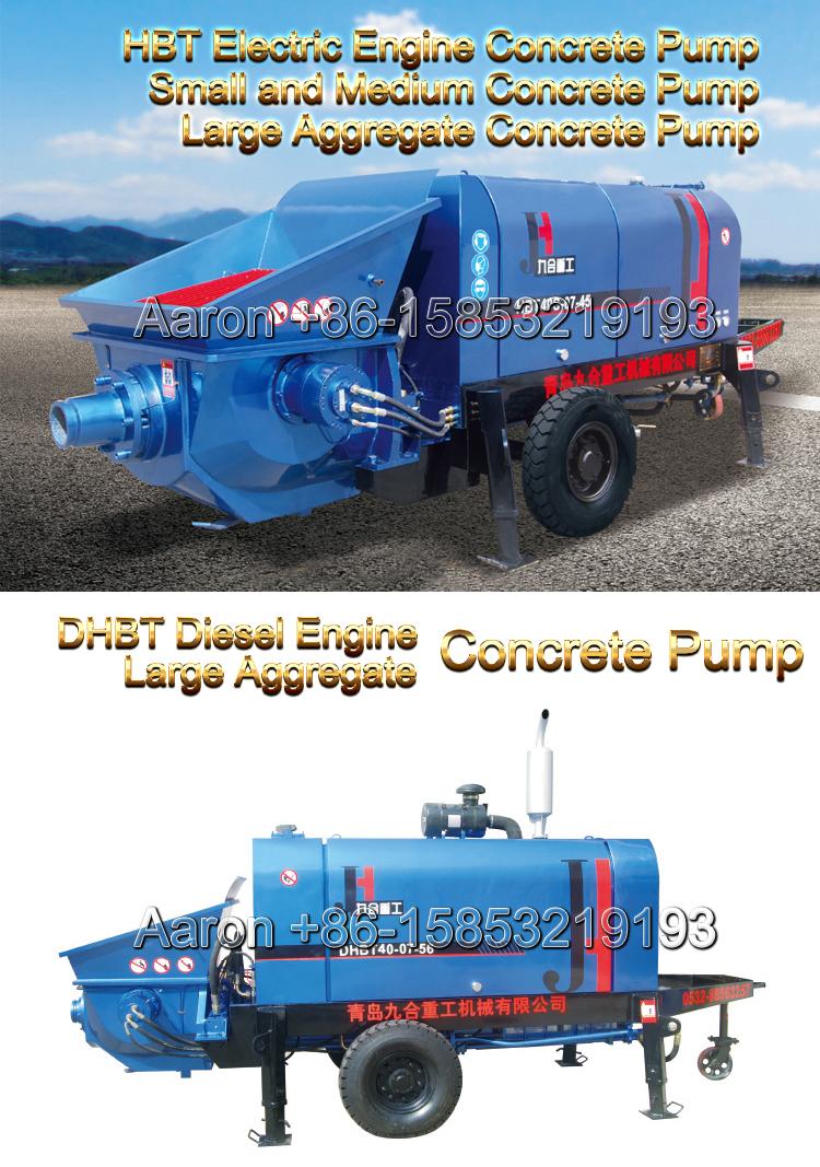 Small And Medium Concrete Pump Large Aggregate Concrete