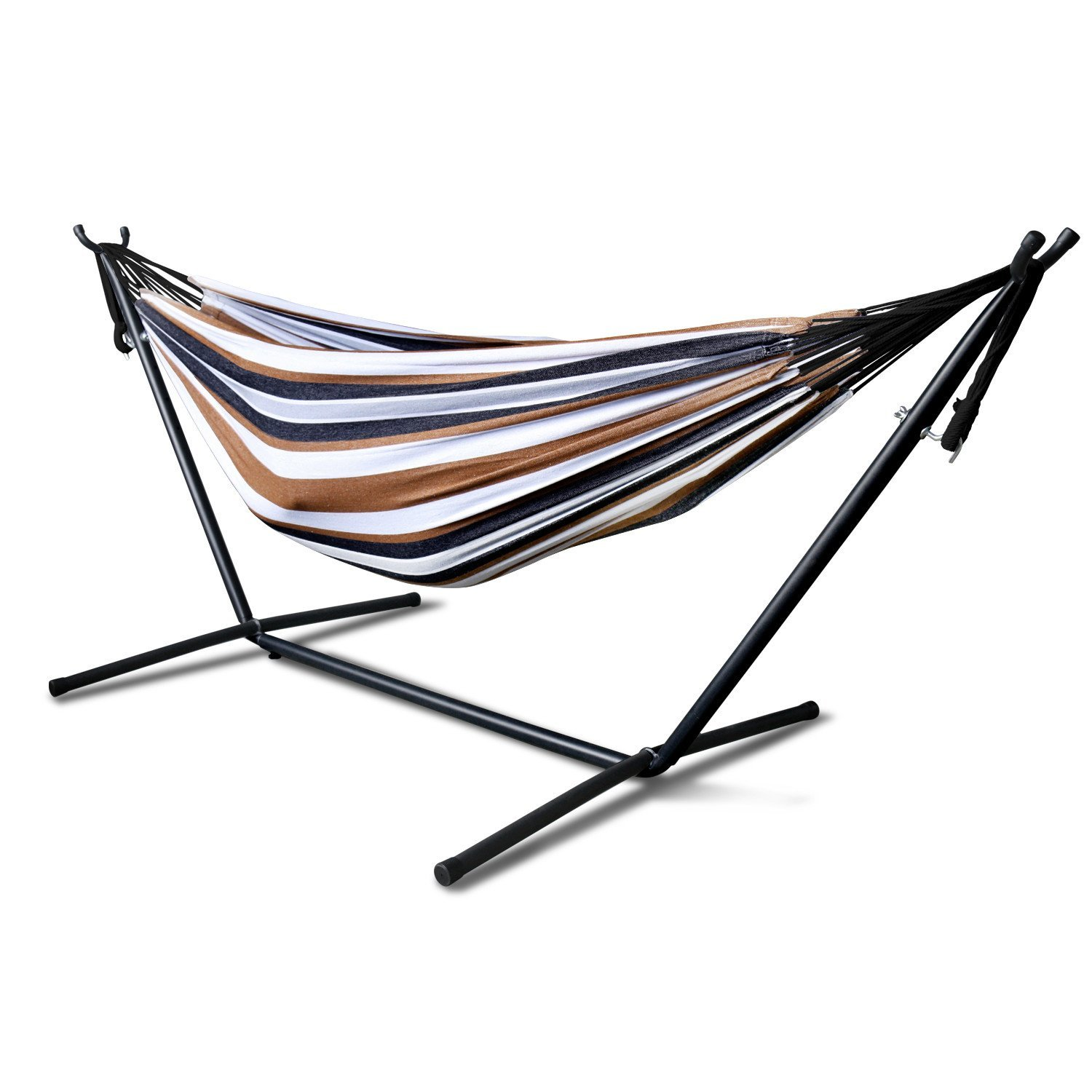 blue white two up stand deluxe and dp amazon hammock wood person com arc outdoor quilted including garden