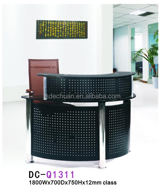 Deluxe Black Small Salon Reception Desk