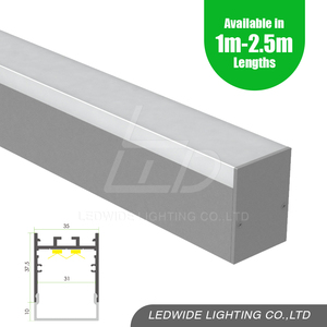 35mm Led Strip Aluminium Profiles With 90 120 Degree Joiners