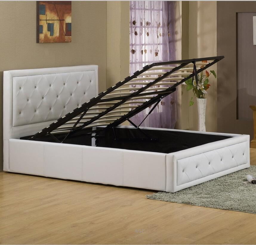 Phenomenal Ottoman Storage Gas Lift Bed With Crystal Buttons Headboard Buy Lift Up Storage Bed Modern Leather Bed With Lift Storage Silver Pu Leather Bed Gamerscity Chair Design For Home Gamerscityorg