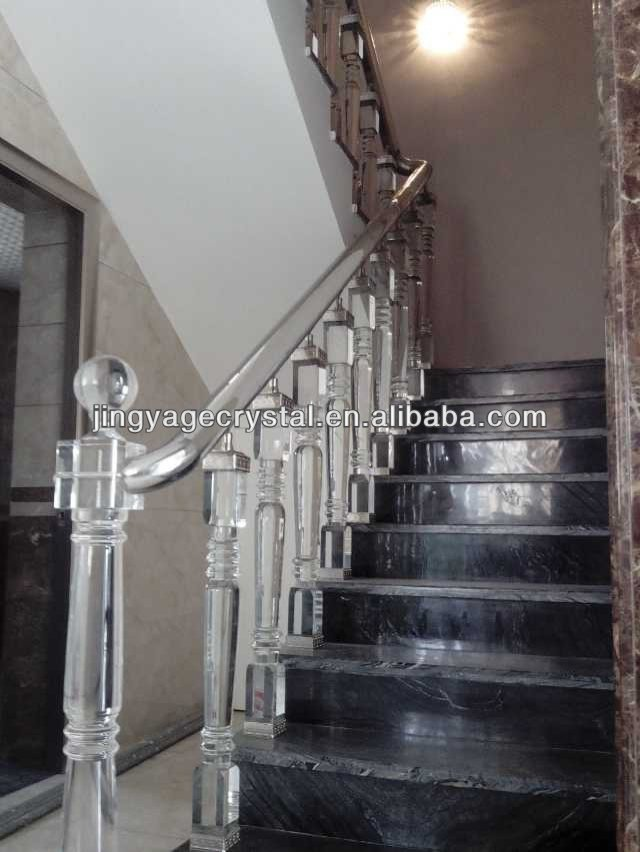 crystal glass staircase for home decoration